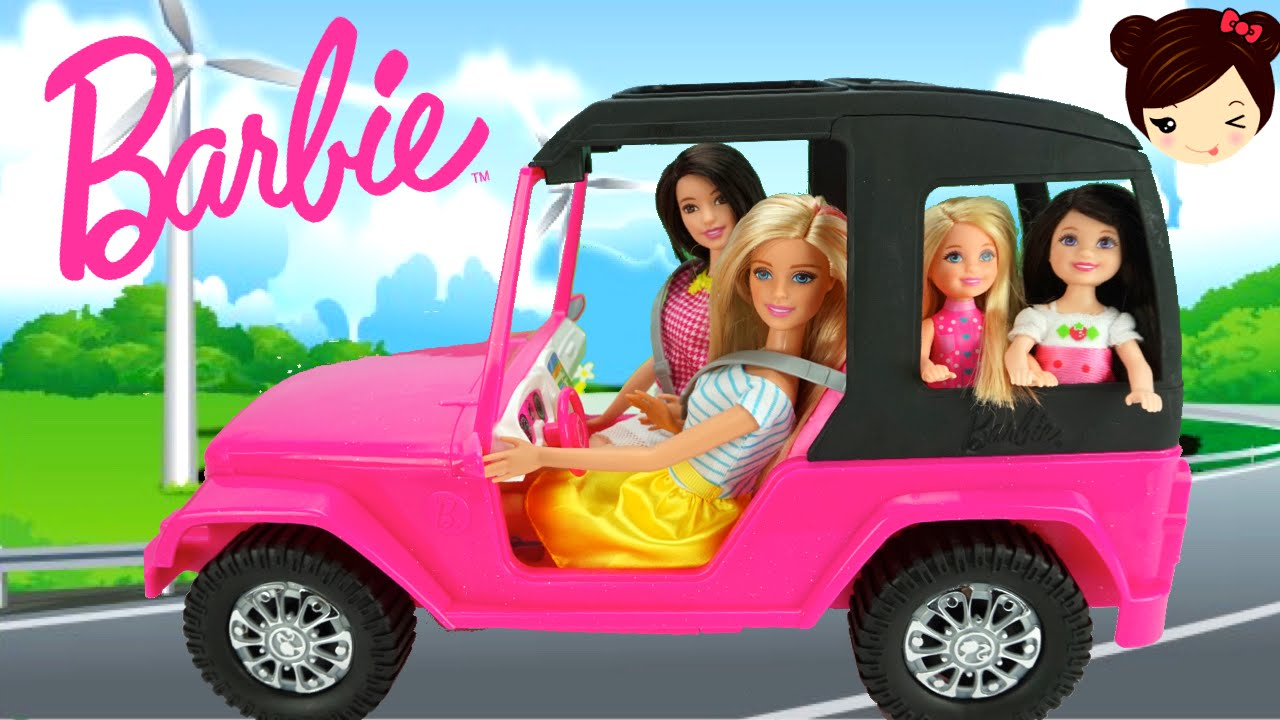 el auto de barbie juguetes de barbie los juguetes de titi youtube. Black Bedroom Furniture Sets. Home Design Ideas