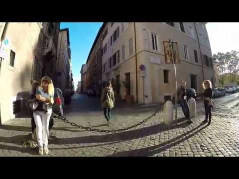 STREET VIEW: Via Giulia in Rome in ITALY