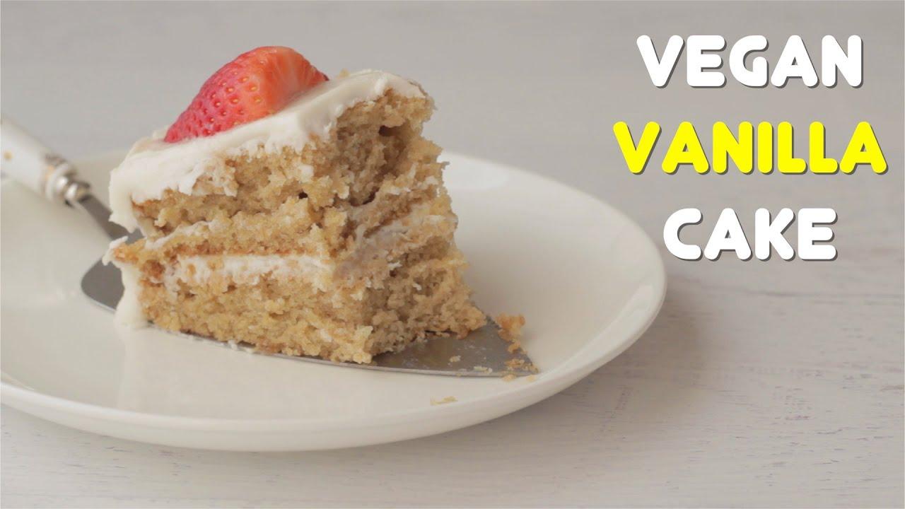 Light Fluffy Vegan Vanilla Cake