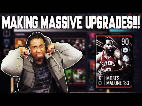 MAKING 2 90 OVR UPGRADES!!! ROAD TO THE TOP NBA LIVE MOBILE 19 EP. 26!!!
