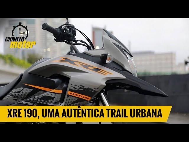 XRE 190, uma autêntica trail urbana