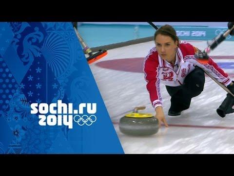 Curling - Woman's Round Robin - Japan v Russia | Sochi 2014 Winter Olympics