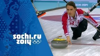 Curling - Woman's Round Robin - Japan v Russia | Sochi 2014 Winter Olympics