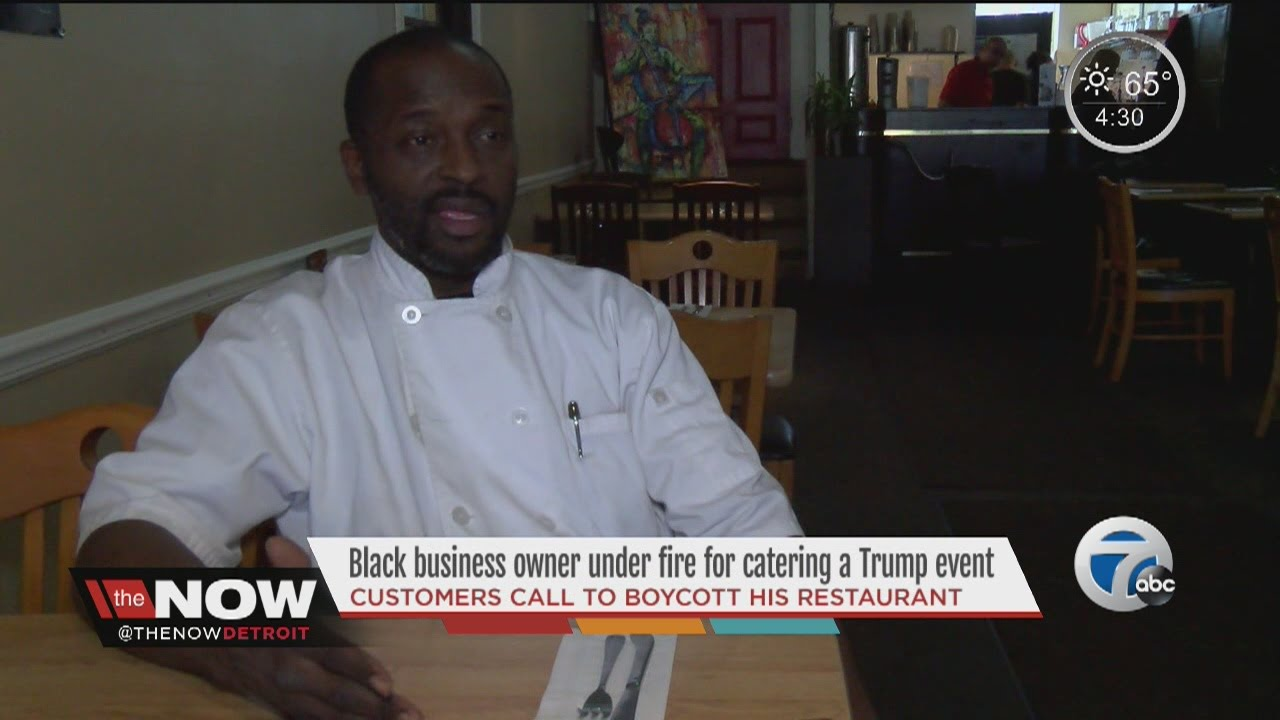 Black business owner under fire after catering a Trump event