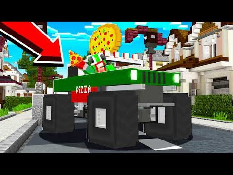 DELIVERYING PIZZA IN A MONSTER TRUCK! PIZZA PLACE!