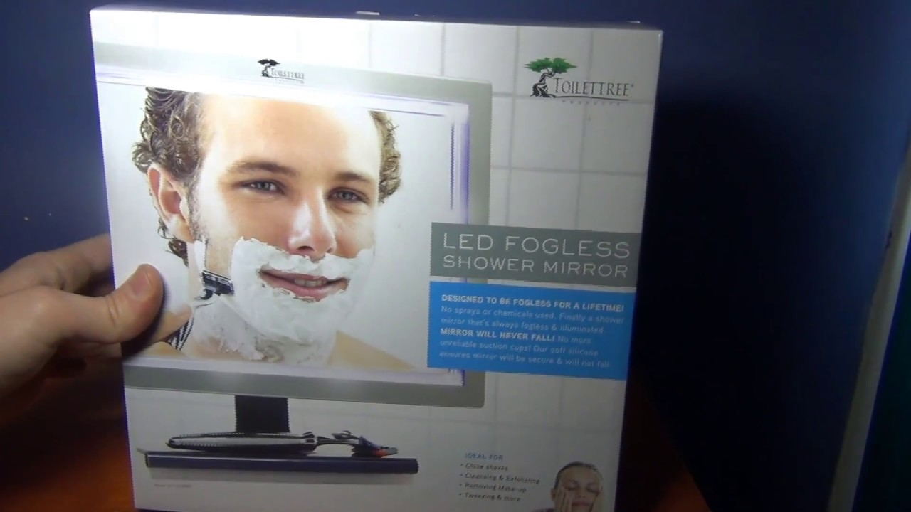 Toilettree Fogless Shower Mirror With Squeegee Close Look