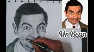 Mr Bean Menggambar Wajah Dengan Pensil Realistis Artis. How To Draw Realistic Face