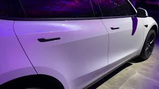 Model Y, white, shell from #modelyreveal