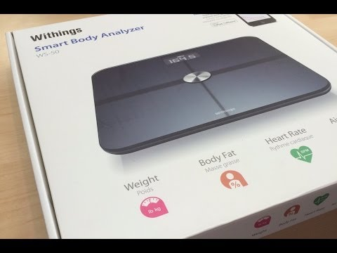 Withings Scale Unboxing & Review, Syncs With Myfitnesspal App