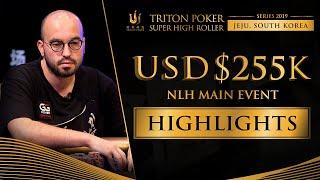 US$ 255k NLH Main Event Highlights - Triton Poker SHR Jeju 2019