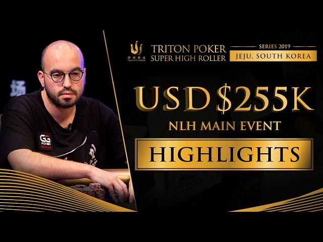 US$ 255k NLH Main Event Highlights - Triton Poker SHR Jeju 2019