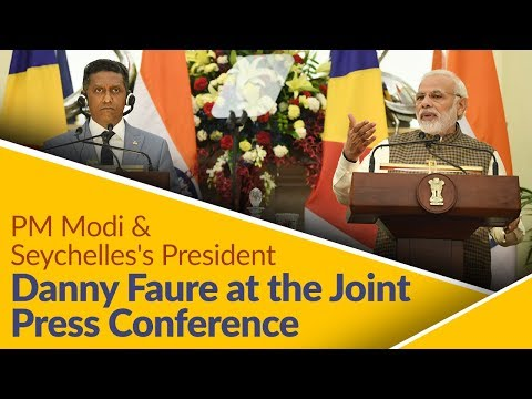 PM Modi & Seychelles's President Danny Faure at the Joint Press Conference in India