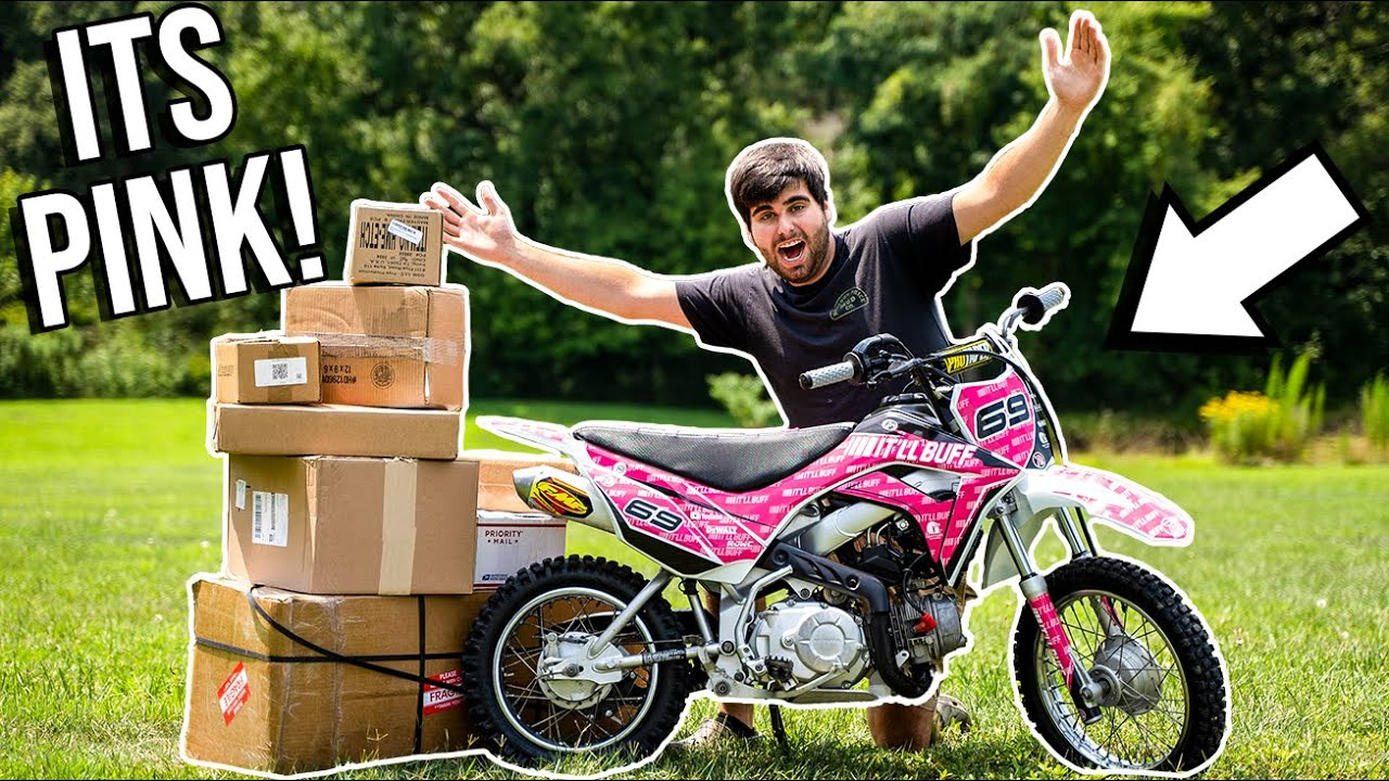 They SURPRISED ME with EPIC PINK PIT BIKE! *IT'LL BUFF BUILD*