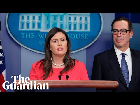 Sarah Sanders gives White House briefing – watch live