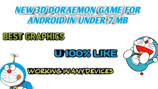 2018 New ! Doraemon game for android | 3D graphics | working in any devices | MUST WATCH