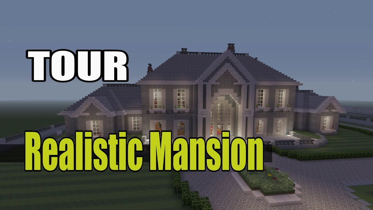 Minecraft Realistic Mansion Tour Youtube