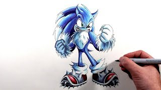 Drawing Sonic The Werehog - Sonic Unleashed