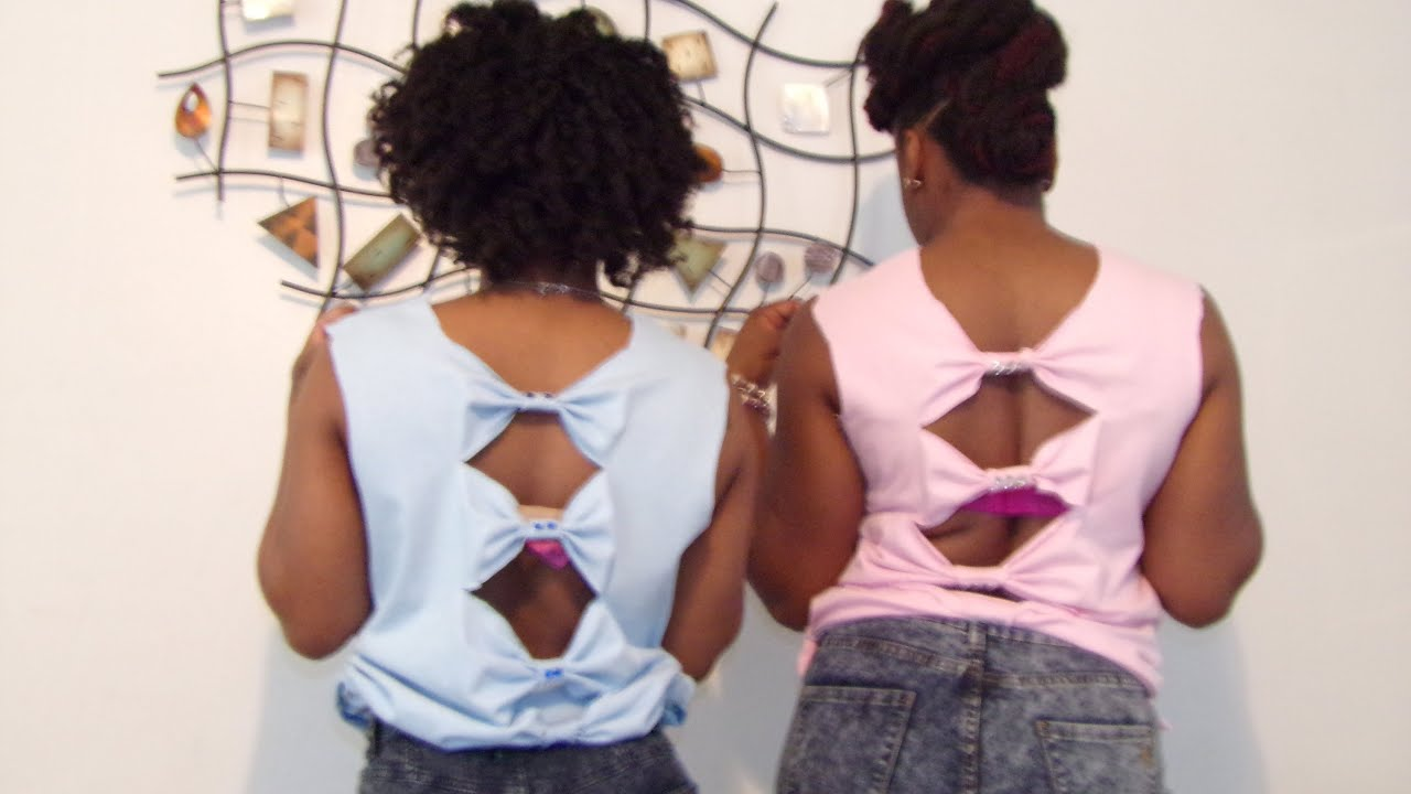 diy how to cut up a shirt and make it cute