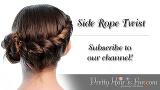 How to do a Side Rope Twist Hairstyle Tutorial | Pretty Hair is Fun