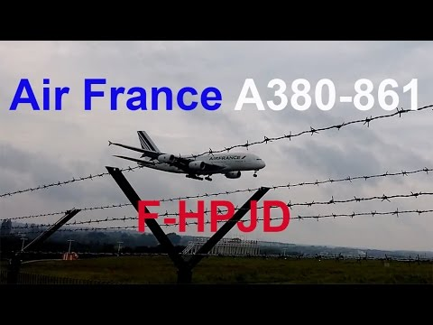 Landung A380 Air France F-HPJD am Flughafen Dresden // HD // 2016-19-09