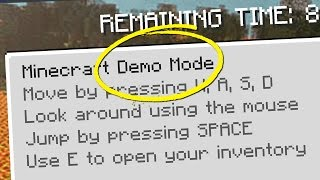 Minecraft's HIDDEN Demo Mode