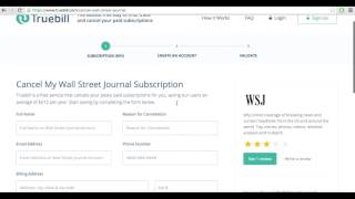 How To Cancel Wall Street Journal (2016)