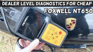 fOXWELL NT650 SCANNER REVIEW AND TEST on BMW and Porsche