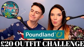 POUNDLAND OUTFIT CHALLENGE WITH KATE MCCABE | CHRISTMAS WITH MR CARRINGTON