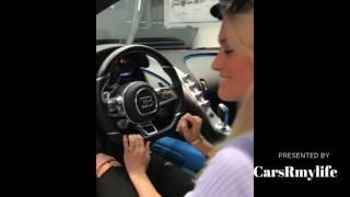 Blond Sex in  Bugatti Chiron!