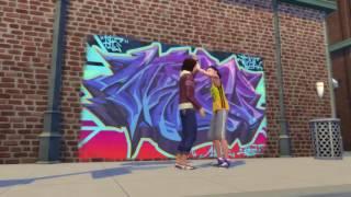 Sims City Living Graffiti Clip