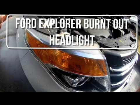 2011 2015 Ford Explorer Headlight Bulb Replacement Youtube