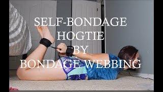 Self-bondage hogtie system from Bondage Webbing!!