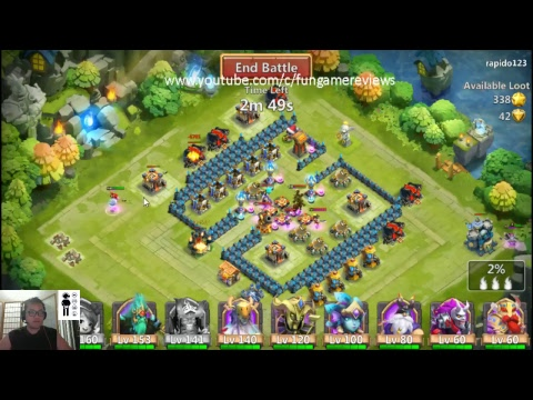 CASTLE CLASH AND CLASH OF LORDS 2 END OF GUILD UNITED REAP REWARDS