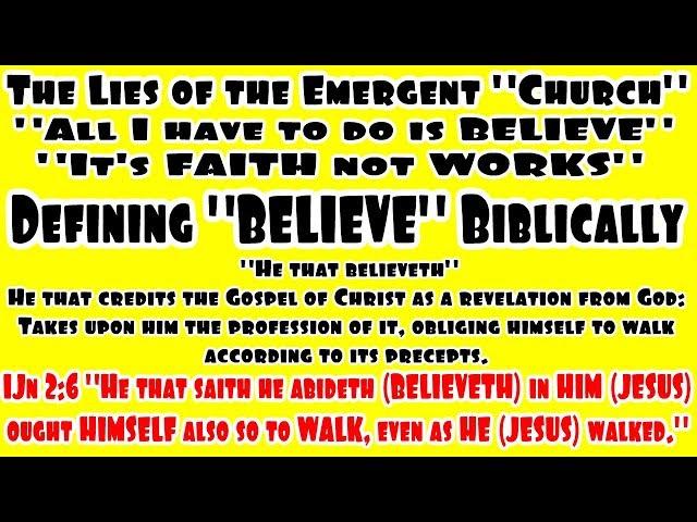 Do You Believe? Defining