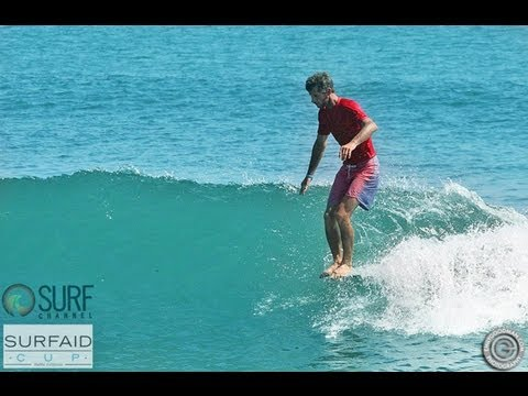 Joel Tudor and Tom Curren Surfing Malibu - SurfAid Cup