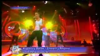 Augusto Schuster y Barbie Velez son Eminem y Rihanna En Tu Cara Me Suena