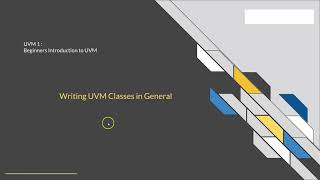 VLSI Verification Courses: Udemy : UVM in Systemverilog: Quick Start for Absolute Beginner : Part 1