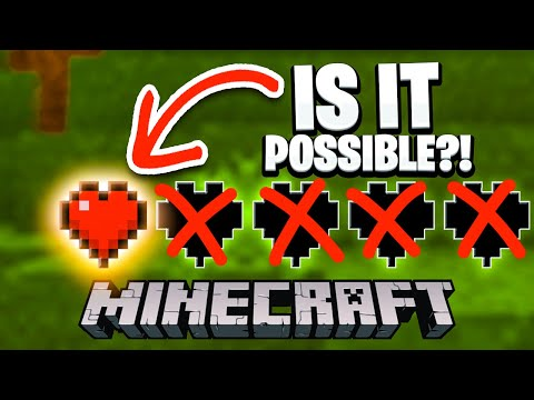 Is It Possible to Beat Minecraft Using Only 1 HEART?