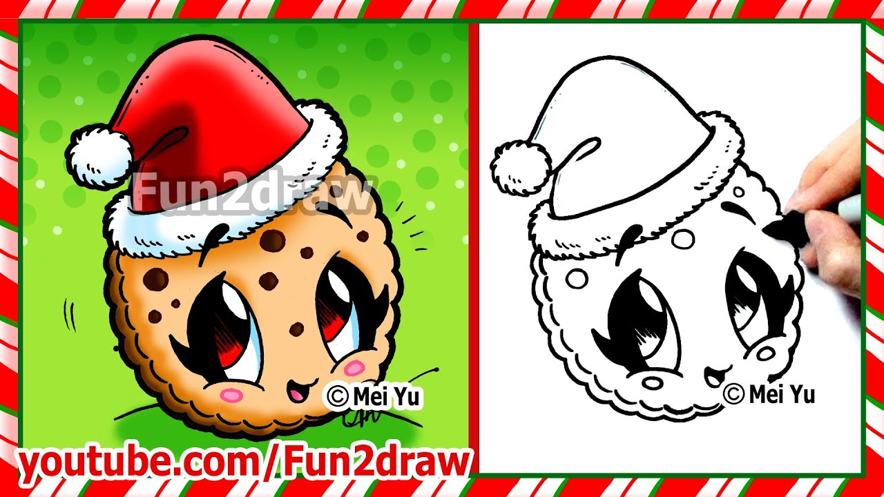 how to draw a cookie cute and easy fun2draw youtube