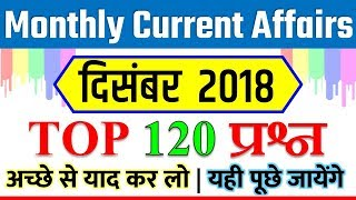 Current affairs of December 2018🔥 monthly current affairs in hindi pdf Dec YT STUDY SSC GD CGL CPO