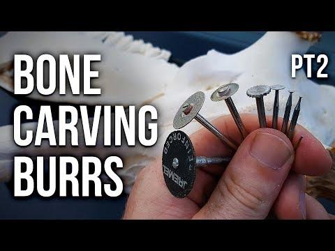 Bone Carving Burrs Tutorial Part 2 (Cutting Wheel Burrs)!