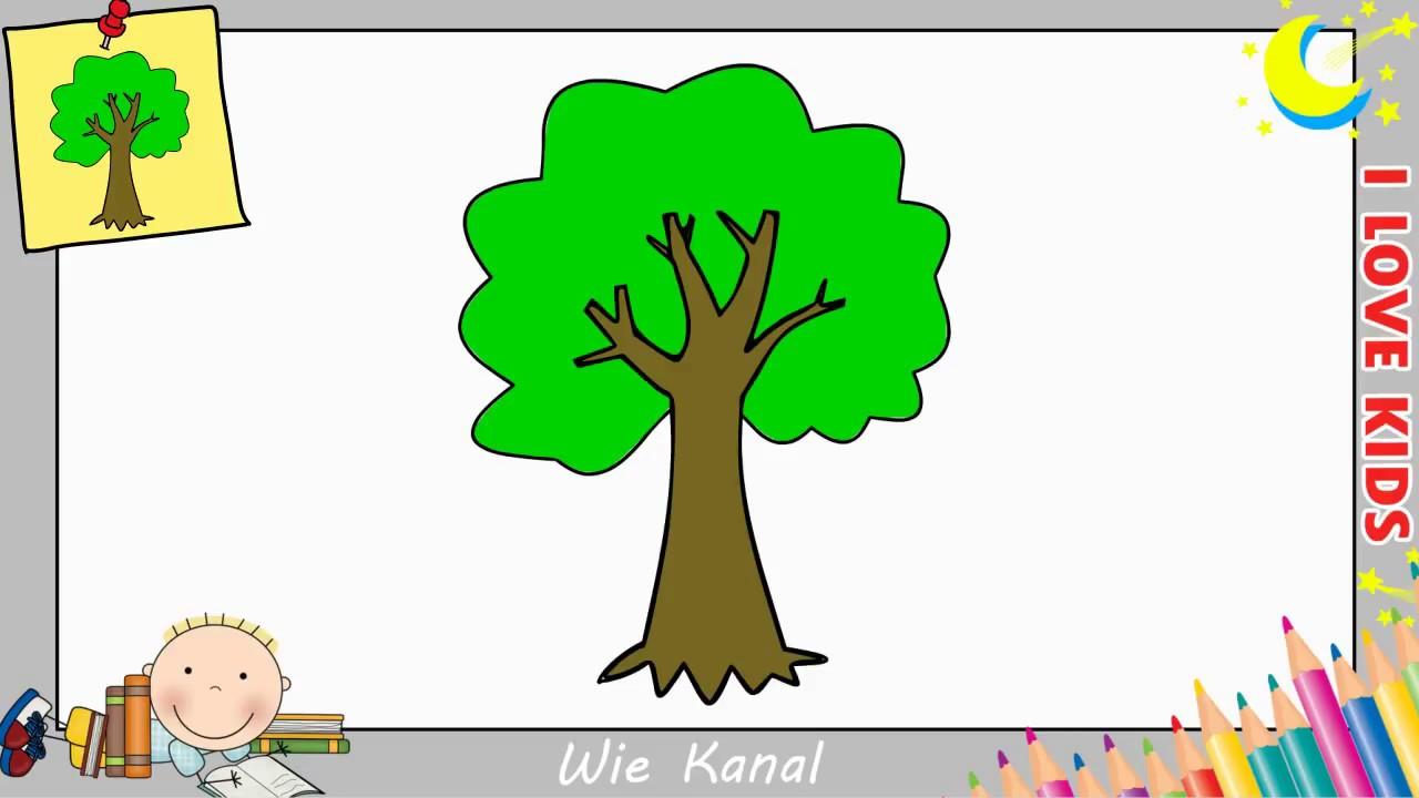 Baum Zeichnen Lernen Einfach Fur Anfanger Kinder Youtube