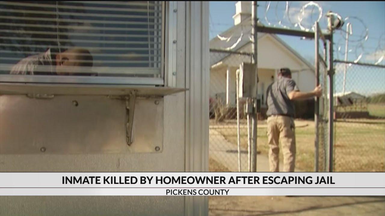 S C  jail inmate escaped, broke down woman's kitchen door