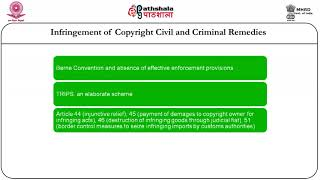 Copyright- civil and criminal remedies