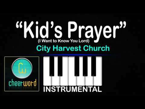 Kid's song - I Want to Know You Lord  | City Harvest Church | Piano Instrumental