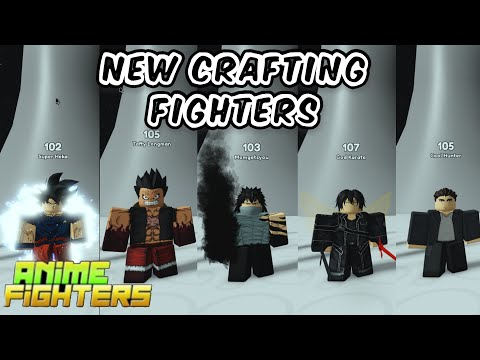 Anime Fighters Simulator Crafting Fighters Showcase (part 1)