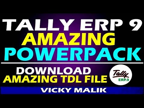 Amazing TDL - Tally ERP 9 Powerpack TDL || Tally ERP 9 All in one