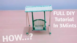 How To Make Swings With Match Sticks | DIY | Full Tutorial HD