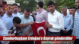 Cumhurbaşkanı Erdoğan'a Bayrak gönderdiler