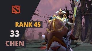 33 (Rank 45) plays Chen Dota 2 Full Game